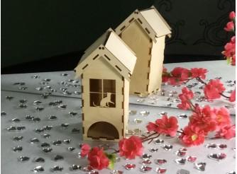 """Чайный домик для росписи """"Кошка в окошке""""/фанера(1шт)"""