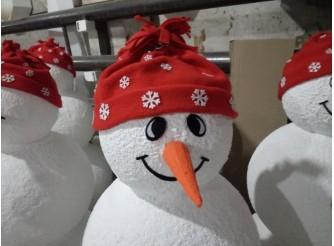"""Декор из пенопласта """" Снеговик с улыбкой"""" с покрытием  h115см (1шт)"""