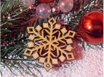 "Снежинка/дерево ""Новогодний узор"" d6см (набор 5шт)"