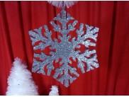 Снежинка блестящая d35 см (1шт)