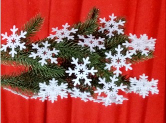 "Снежинка из фетра ""Зимнее волшебство"" 5см (набор 12шт)"