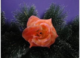 """Цветочная головка роза """"Люси красотка"""" коралл Ø15.5см (1шт)"""