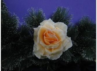 """Цветочная головка роза """"Люси красотка"""" крем-розовая Ø15.5см (1шт)"""
