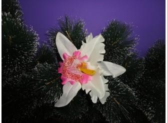 """Цветочная головка """"Орхидея"""" розовая Ø15.5см (1шт)"""