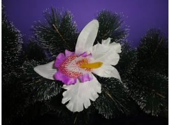 """Цветочная головка """"Орхидея"""" фиолетовая Ø15.5см (1шт)"""