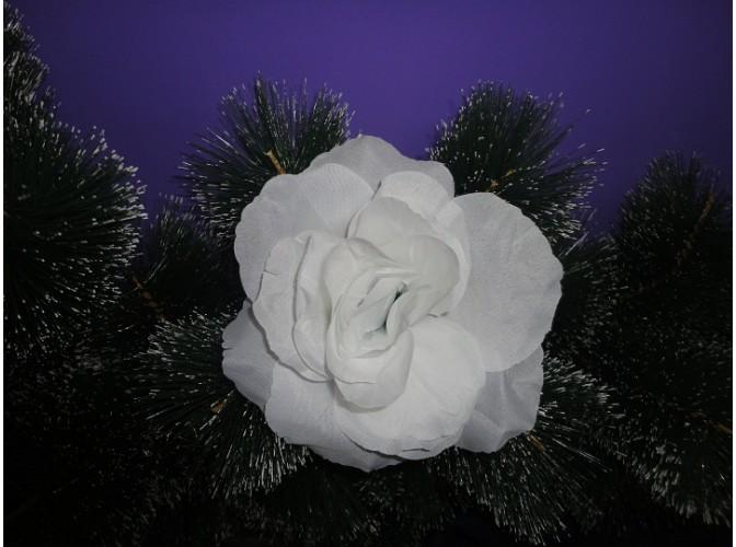 """Цветочная головка роза """"Люси красотка"""" белая Ø15.5см (1шт)"""