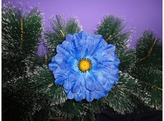 Цветочная головка Мак синий Ø15,5см (1шт)