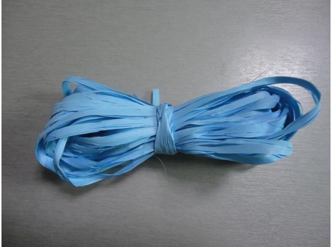 Рафия искусственная, цвет голубой, 10м (1шт)