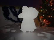 "Заготовка из пенопласта ""Дед Мороз с мешком"" h30см; w3см (1шт)"