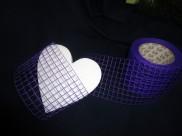 Лента Рогожка(фиолетовая) ширина10см  (1м)
