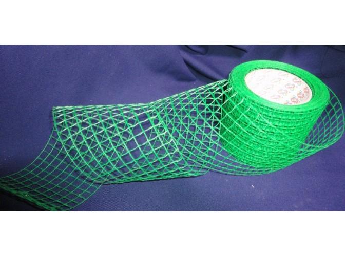 Лента Рогожка(зеленая) ширина10см  (1м)