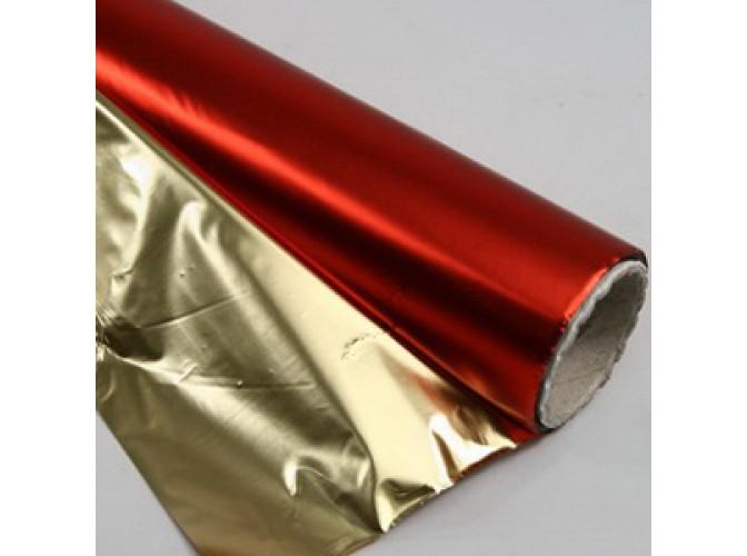 Полисилк красный/серебро 100см х 1м