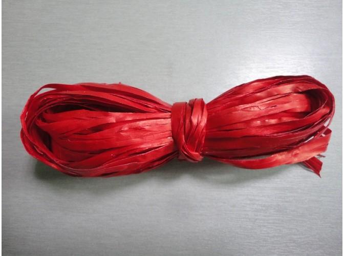 Рафия искусственная, цвет красный, 10м (1шт)