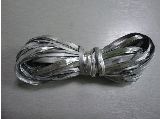 Рафия искусственная, цвет серебрянный, 10м (1шт)