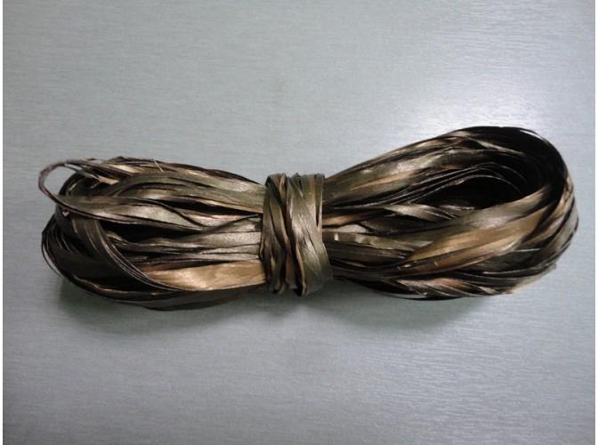 Рафия искусственная, цвет коричневый, 10м (1шт)