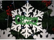 Снежинка из пенопласта Ø 40 см (1шт)
