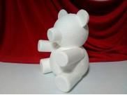 "Основа из пенопласта 3D ""Мишка Тедди Роуз"" h20cм (1шт)"
