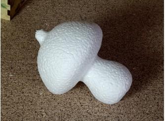 """Заготовка из пенопласта 3D """"Белый гриб"""" 12*9см  (1шт)"""