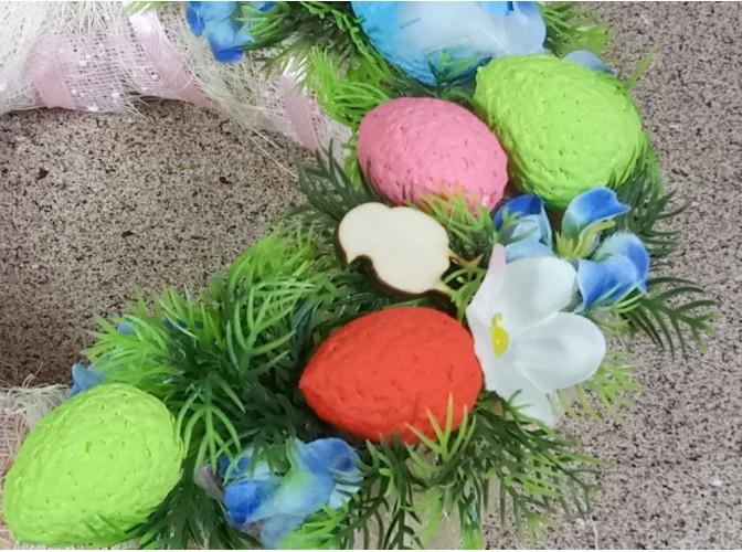 """Вставки """"Яйца с декором"""" h3,5см/ два цвета (набор 6шт)"""