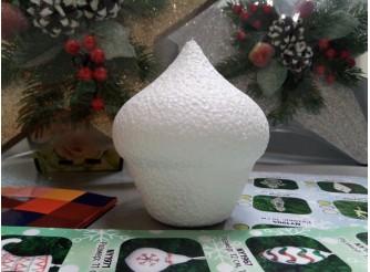 """Заготовка из пенопласта 3D """"Кекс"""" h10 см  (1шт)"""