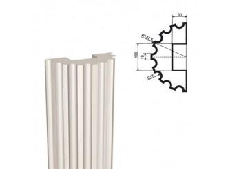 Ствол полуколонны из пенопласта ПКЛ-002 Ø150 мм/1000 мм (1шт)