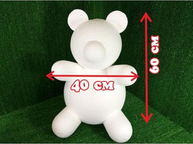 "Основа из пенопласта 3D ""Мишка Тедди Роуз"" h60cм (1шт)"