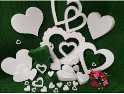Сердечки - заготовки из пенопласта