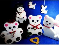 Новогодние игрушки 2D - заготовки из пенопласта