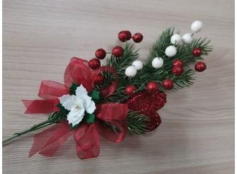 """Букетик новогодний """"Новогодняя ночь"""" 25см (1шт)"""