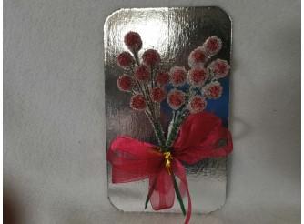 """Декор """"Ледяные ягоды на ветке"""" ( набор 2 шт)"""