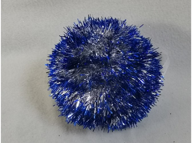 Шар новогодний Ø12/мишура (1шт)