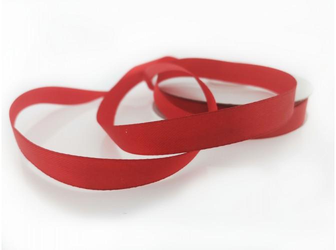 Лента атласная 1,2см /красный (1м)