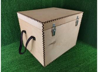 Короб на петлях, с замками и ручками/фанера 8мм (1шт)