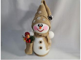 """Декор из пенопласта """"Снеговик с сумочкой"""" h30см (1шт)"""