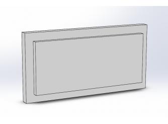 Боссаж (рустовый камень) БС-012 500х200х50 мм (1шт)