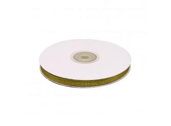 Лента метал/парча 0,6*32ярд /золото (бобина)