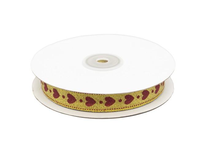 Декоративная лента 'Сердечки' 15 мм* *32,9 м  (бобина)