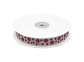 Декоративная лента 'Цветочки' 15 мм* *32,9 м  (бобина)
