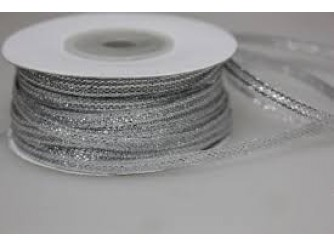 Лента метал. парча 0,3см*100м (серебро)