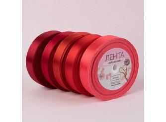 Лента атласная 0,6см/32,9м  красный (бобина)