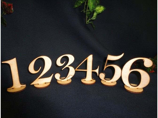 Цифры на подставке в наборе h5см (10шт)