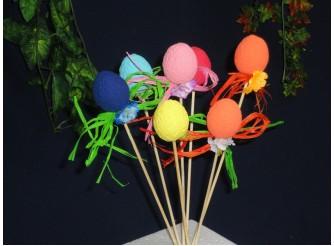 """Декор из пенопласта """"Крашенные яйца"""" h3,5см /микс (набор 6шт)"""