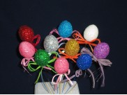 """Декор на стикере """"Яйцо блестящее"""" h3,5см/ассорти (набор 10шт)"""