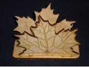 "Салфетница ""Кленовый лист""/дерево 12х6х5см (1шт)"