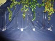 """Слово """"LOVE"""" h 30см/акрил (комплект)"""