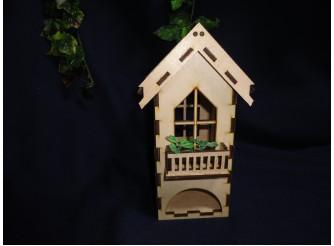 Чайный домик с балконом для росписи /фанера (1шт)