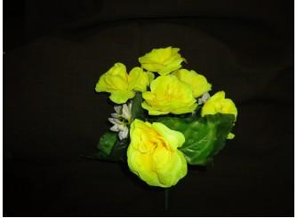 Букет розочек желтый h25см, 7 голов (1шт)