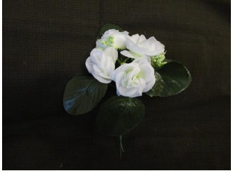 Мини-букет розочек белый h21,см 5 голов(1шт)