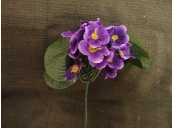 Букет искусственных фиалок фиолетовый h18см (1шт)