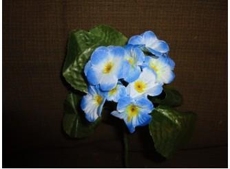 Букет искусственных фиалок бело-голубой h18см (1шт)